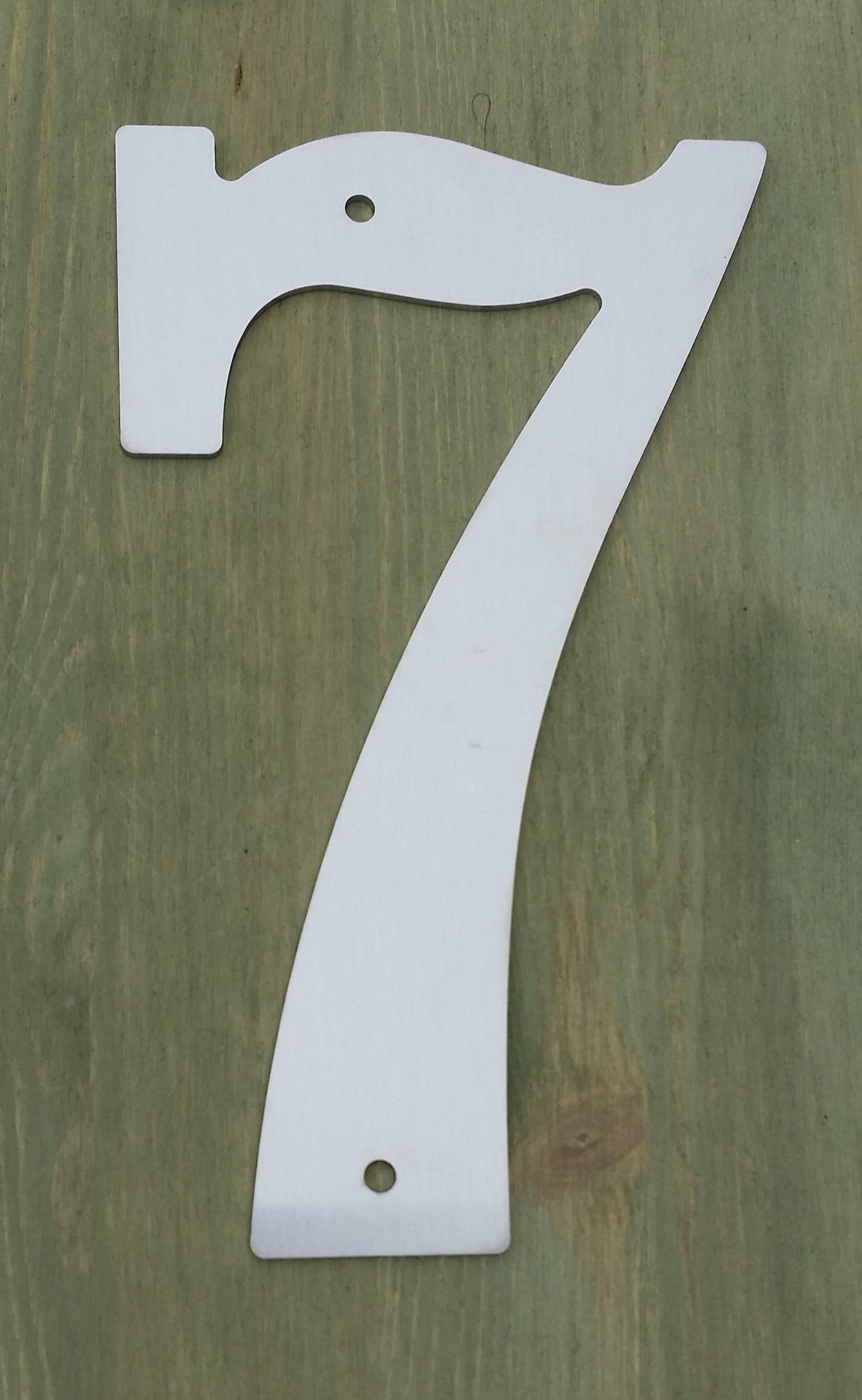 Husnummer i rustfritt stål
