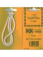 Snorveke rund - 3 mm (5-pk) (frakt inkl.)