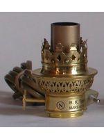 Imitert brenner 10''', bronsefarget ledning, E14