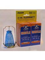 Glødenett (2-pk) og vekeløfter til Aladdin-lampe